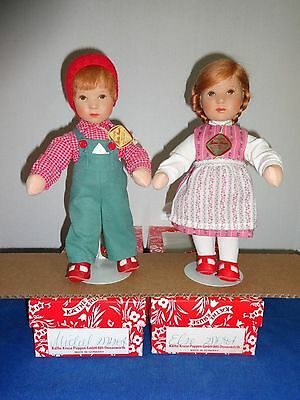 Kathe Kruse doll pair-Else and Michael