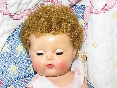 "Vintage 1950's  American Character Tiny Tears 15"" Baby Doll w/ Rock-a-bye Eyes"