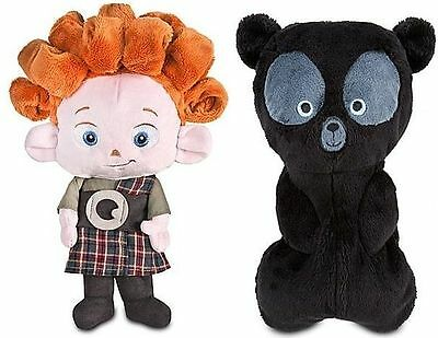Disney NWT Brave Reversible Triplet Brothers Bear Cub Plush Doll NEW