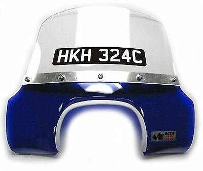 Vinyl Black Windscreen Number Plate for LAMBRETTA or VESPA