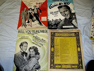 4-Sheet Music From 30's -40's
