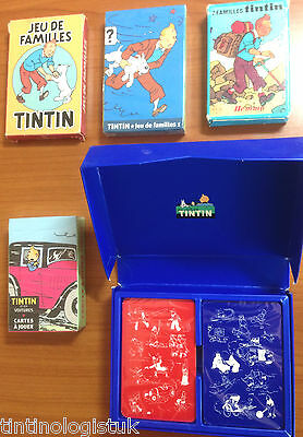 Tintin Card Sets: Playing Cards & Families BUY INDIVIDUALLY - Official Herge