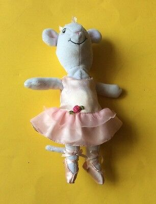 "Soft Toy In A Pink Ballet Dress Angelina Ballerina 9"" Tall"