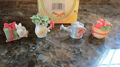 New My Blushing Bunnies Figurine:Country Sentiments Mini Accessory Enesco 387118