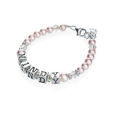 Pink Pearl Personalized Name Bracelet