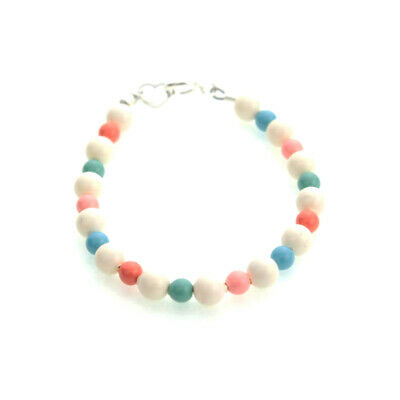 Multi Color Coral Pearls Beaded Bracelet