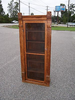 Wood Display Cabinet with Glass in Doors