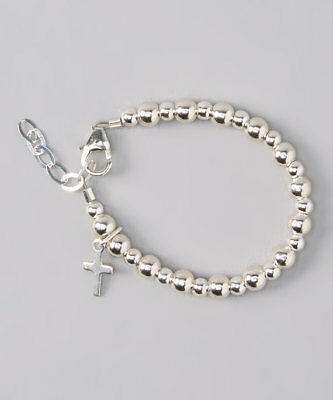 Sterling Silver Beads and Cross Bracelet