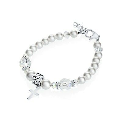 Swarovski White Pearls and Clear Crystals with Personalized Sterling Silver Box