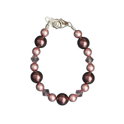 Purple and Rose Pearl Bracelet