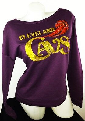 Cleveland Cavs! Wine French Terry Longslv.Top with Shiny Lettering.Go Cavaliers!
