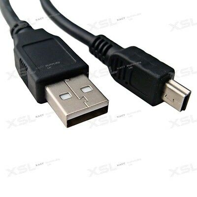 2m - 3m Mini USB Charge & Sync Cable Lead Cord For HDD, PS3 Controllers, Sat Nav