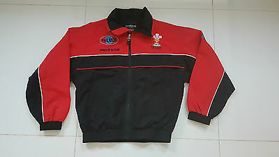Player Issue WSRU Wales Welsh Schools Rugby Union Shirt Jacket Top 11 - 12 Yr