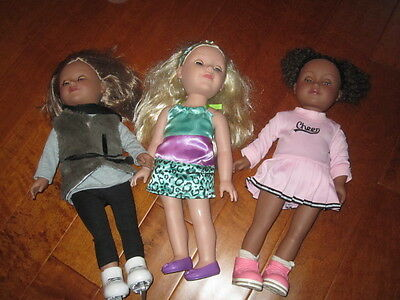 lot of 3  Madame Alexander Friends Paradise Kid Cititoy dolls