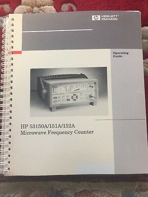 HP 53150A 151A 152A Microwave Frequency Counter Operating Guide