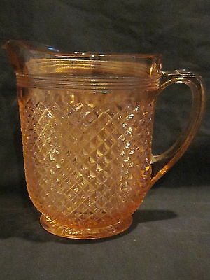Hocking Glass Miss America Pink Pitcher with Ice Lip