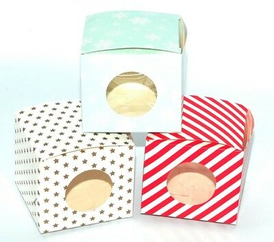 Pack 6 Single Individual Cup Cake Boxes with inserts gift box! Perfect for All!