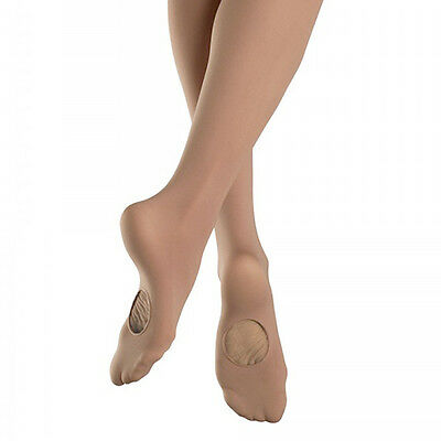 Bloch Girl's Light Tan Convertible Tights - Size Large