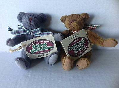 2 Ganz Cottage Collectibles miniature Bears Muffin and Dewbeary w tags