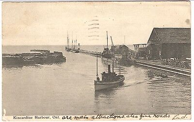 "Post Card: KINCARDINE HARBOUR, ONTARIO, 1906, WITH ""NO R.C.'S!"""