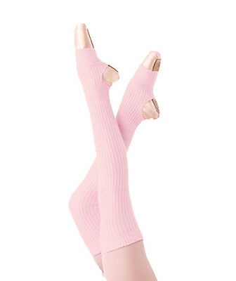 Girls Body Wrappers 27'' Light Pink Stirrup Leg Warmers