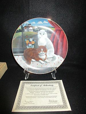LYNELL Cat Collectors Plate Eyes Of The Season Summer Ltd Ed 1981 COA & Box