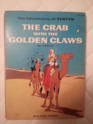 TINTIN The crab with the golden claws - Hergé - US Edition 1959 Golden Press