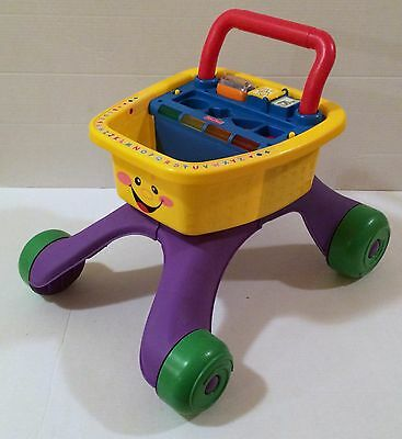 Fisher-Price Laugh and Learn Shopping Cart Walker with Sounds Lights RARE HTF!
