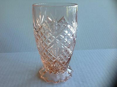 Depression pressed Pink Glassware in the Diamond and Fan Pattern