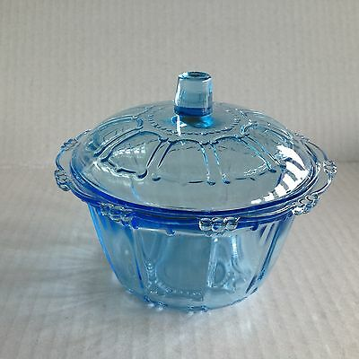 King Indonesia Blue Covered Candy Bowl / Dish
