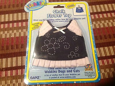 NEW Webkinz Lil'Kinz  Chalk Flower Top Outfit by Ganz NWT Sealed Code