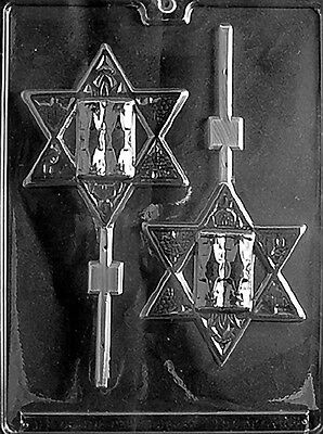 LARGE STAR OF DAVID LOLLY MOLD chocolate soap candy molds