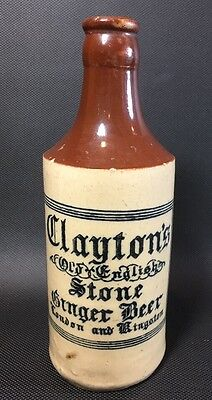 Antique Clayton's Old English Stone Ginger Beer  Bottle 4H