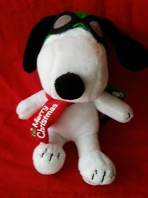 Peanuts Snoopy Red Baron Musical Plush Doll~Plays Linus & Lucy~Nwt