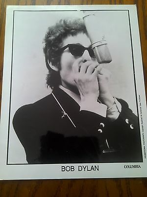 Very Rare Original Promo Photo Bob Dylan Recording Studio Shot 9x7""