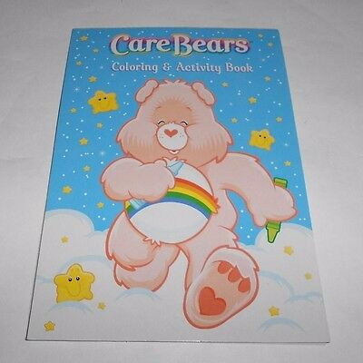 Vintage Care Bears Small Coloring & Activity Book Pad with Sticker Sheets 2002