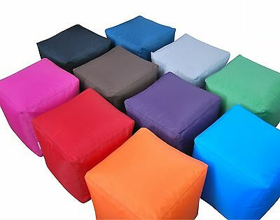 Indoor Outdoor Bean Bag Bbq Cube Beanbag Seat Pouffe Foot Stool Water Resistant