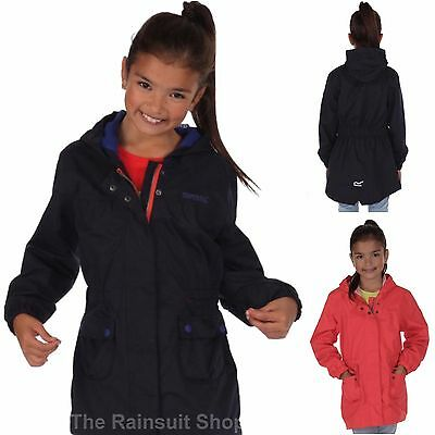 Regatta Girls Treasure  Waterproof Breathable Rain Coat Jacket Kids Age 3-4Yrs