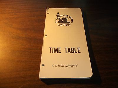 October 1973 Cnj Central Railroad Of New Jersey Central Employee Timetable #2