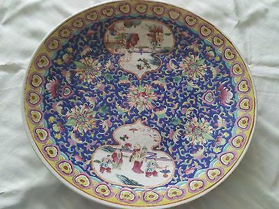 "Large Antique 16"" Chinese Famille Rose Porcelain Charger"