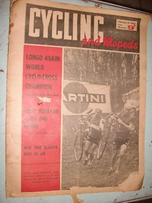 VINTAGE  feb 19,1964 Cycling  mopeds UK bicycling newspaper magazine  MERNICKLE