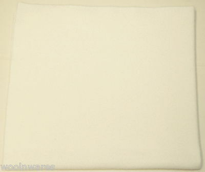 100% WOOL FABRIC for PENNY RUGS & APPLIQUE Mill-Dyed ~ {Solid White-White}