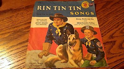 RIN TIN TIN Record, 6 inch, 45 RPM, Yellow, Very Good Condition