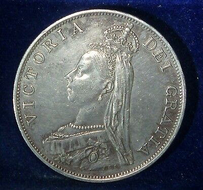 1887 Great Britain Double Florin  . KM# 763
