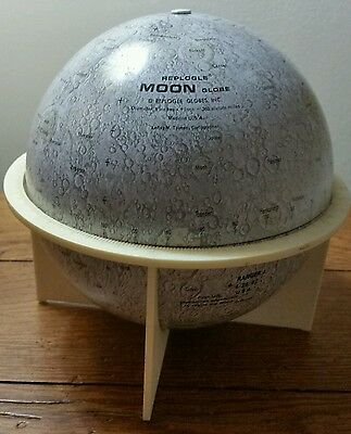 "Vintage Tin Moon Replogle 6""  Globe NASA Space Apollo 11 Astronaut Collectible"