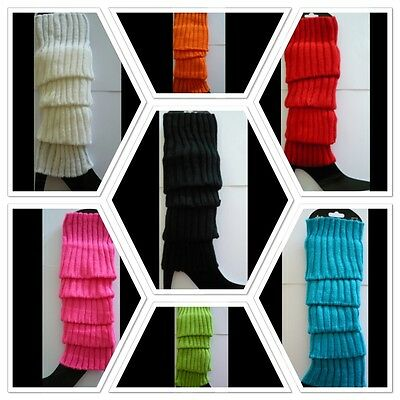 Dance 80s Leg Warmer/Warmers Stocking High  Knitted Scoks Party