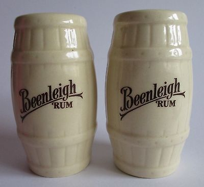 Beenleigh Rum rare salt & pepper shakers by Elisher for home bar or collector