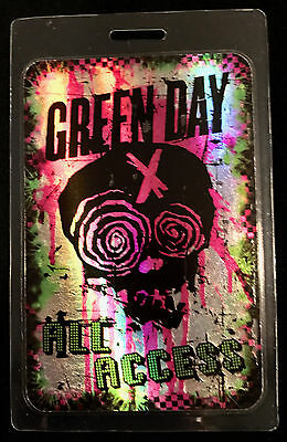 Green Day - All Access Tour Laminate Backstage Pass - 2014 World Tour