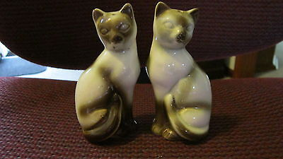 Vintage Siamese Cat Salt & Pepper Shakers CUTE!!