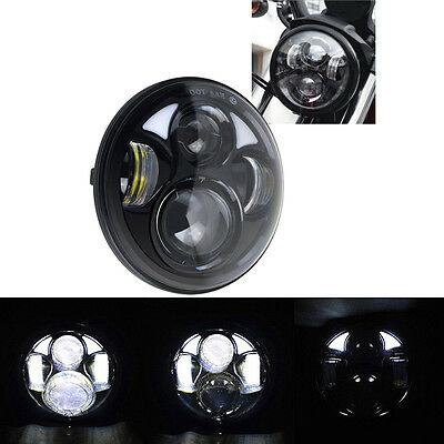 "5-3/4"" 5.75 inch Led Projector Headlight Daymaker DRL H/L Round Harley Davidson"